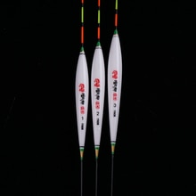 3 pcs/lot Crucian & carpe flotteurs de pêche Composite Nano Flotador Pesca 1-3 # bouchon Bobbers accessoires de pêche outils plaqués (YN08)