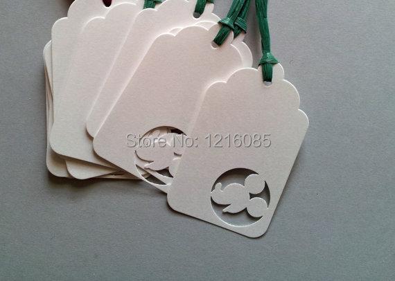 Etiqueta de regalo de ratón en blanco Favor etiquetas en blanco gracias etiquetas boda cumpleaños fiesta Favor etiquetas