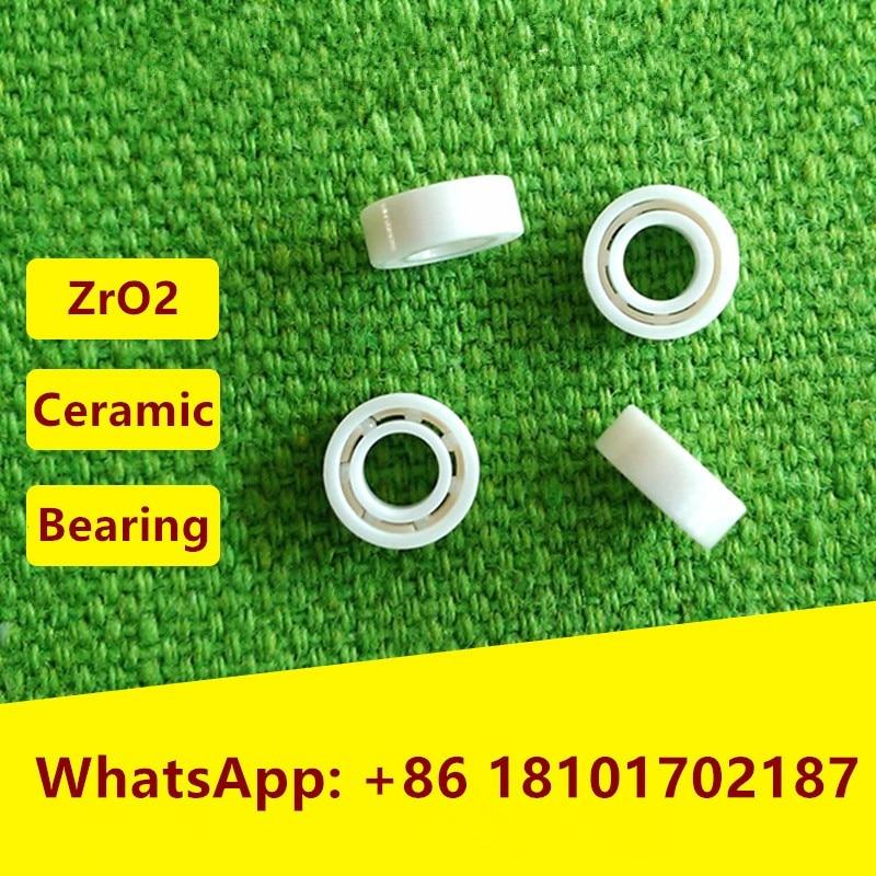 4 قطع MR103 ZrO2 كامل محمل كروي سيراميك 3x10x4mm مصغرة زركونيا السيراميك كرات تروس الحمل عميقة الاخدود 3*10*4 الصيد بكرة