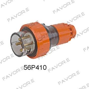 قابس ذكر صناعي, مستقيم 10A 4pin 3 مراحل IP66 56P410