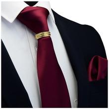 GUSLESON Nieuwe Designer Solid Plain Mannen Tie Pocket Plein Stropdas Sluiting Set Rood Geel Groen Zijden Dassen Suit Wedding Zaken