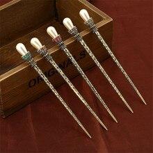 Vintage fourchettes à cheveux simulé perle bâtons de cheveux pour les femmes de mariée cristal strass or couleur épingle à cheveux bijoux accessoires
