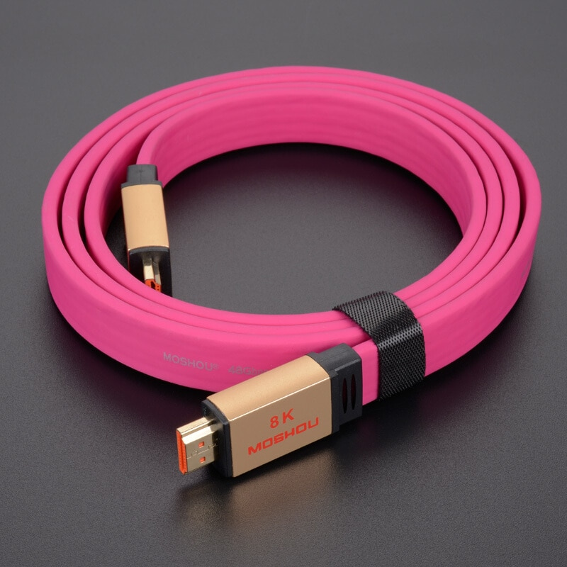 HDMI-متوافق مع 2.1 كابلات MOSHOU مكبر للصوت فيديو HDR HDCP2.2 مع ARC UHD 8K 4K 4320P 60 120Hz 48Gps الصوت لتلفزيون أبل روكو