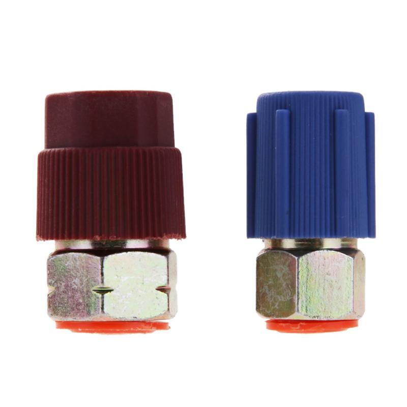 Автомобильный адаптер для переоборудования от 7/16 до 3/8 R12 в R134a, Высокий/Низкий фитинг переменного тока для кондиционера автомобиля