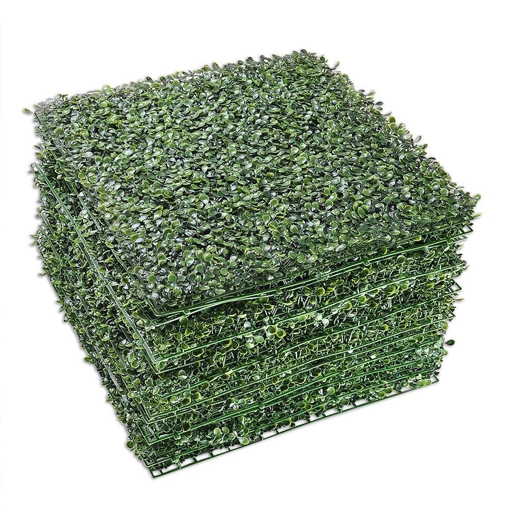 """Yescom 12-Pack 20 """"x 20"""" Tapete de Hedge Buxo Artificial com Abraçadeiras UV Tela De Cerca De Privacidade vegetação Painel Decoração Ao Ar Livre"""