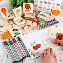 Bébé jouets dessin jouets enfants dessin modèle planches en bois Graffiti interactif apprentissage précoce jouets éducatifs