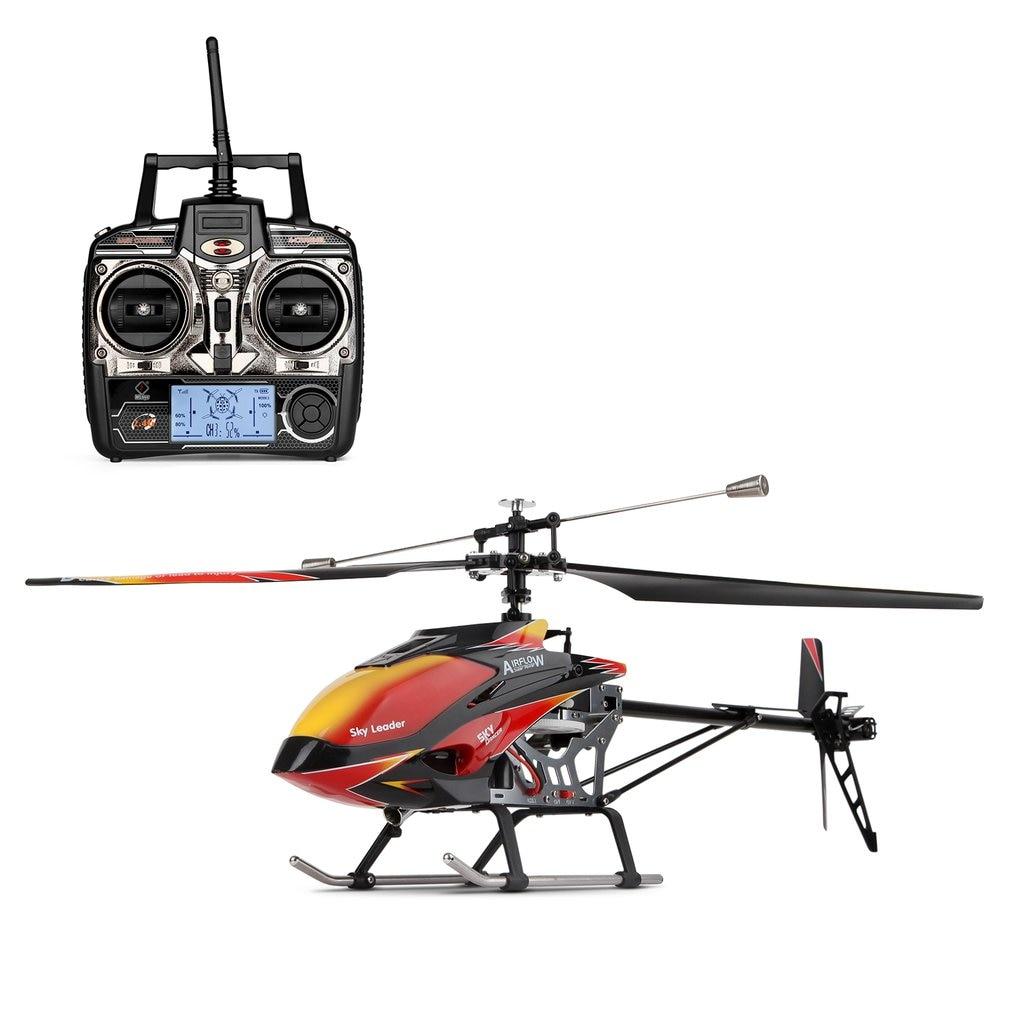 Sin escobillas 2,4G 4CH sola hoja construido-En Gyro Super estable vuelo de alta eficiencia de Motor RC helicóptero Wltoys V913 aviones Juguetes
