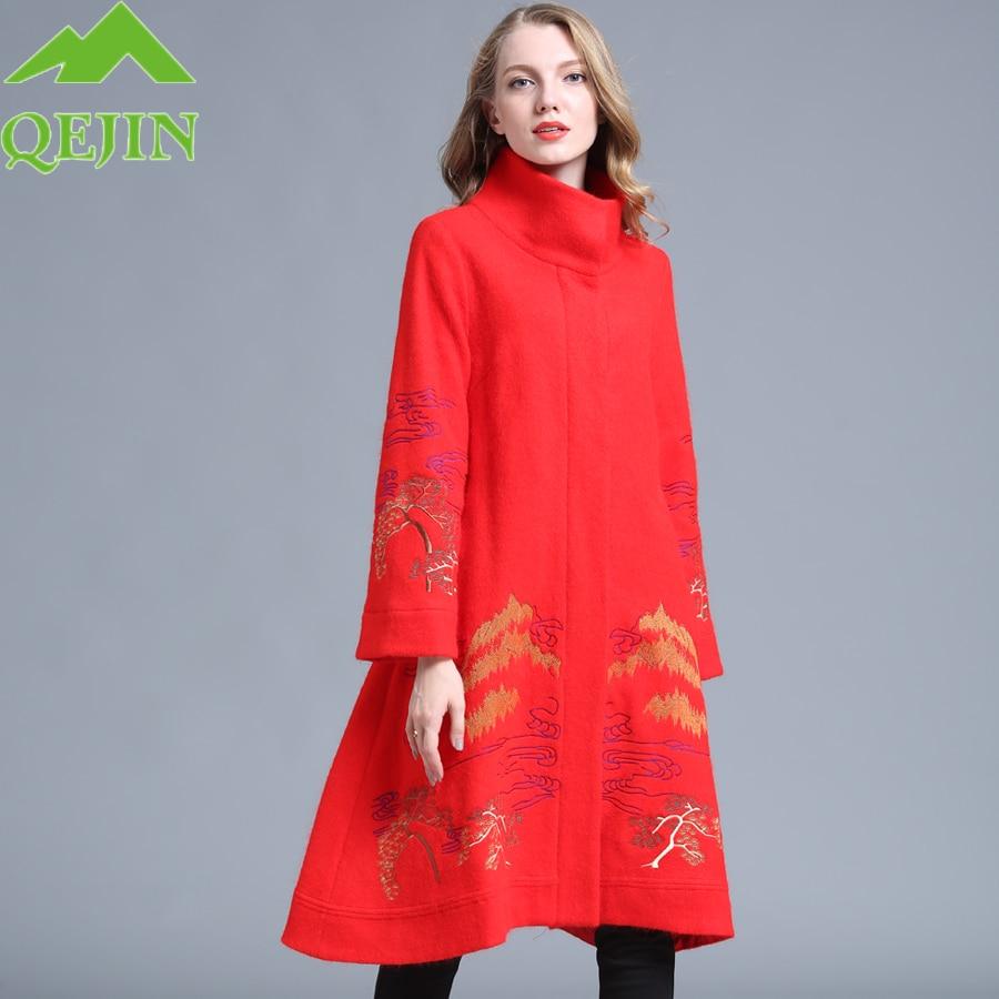 Manteau laine hiver veste femme trench manteau couvert bouton brodé nature manteau élégant grande taille epaissir Parkas en laine
