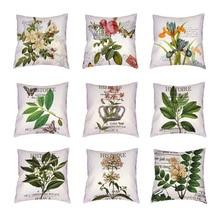 Vintage Flower Parrot biała obicia na poduszki czarny alfabet dekoracja domowa z motylem poliester brzoskwinia skóra korona prezenty rzuć poszewka na poduszkę