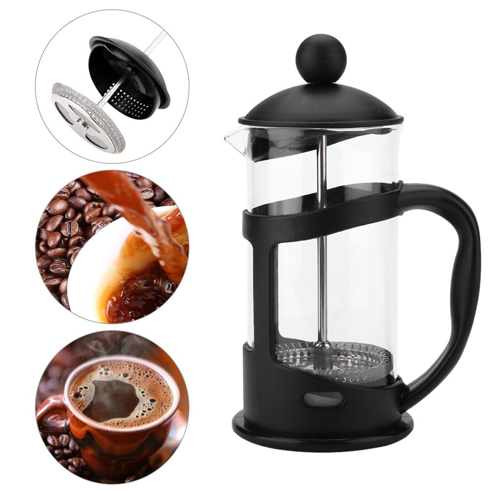 350 600 1000ml Coffee Pot Method Pressure Pot French Filter Press Pot Heat-resistant Percolator Tool For Glass Tea Filter Cup