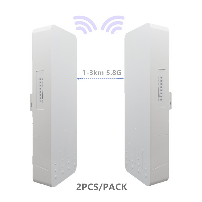 2 unidades 1-3km 300 Mbit router abierto CPE 5,8G punto de acceso...