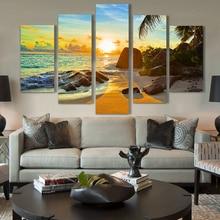 Artryst 태양 섬 풍경의 5 조각 현대 홈 아트 벽 장식 캔버스 회화 그림 캔버스에 hd 인쇄 ar303