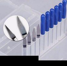 1 pièces 30 degrés 3.175*1.2mm plat fond couteau CNC Machine fraise Bits PVC acrylique bois Cutter gravure Machine-outil