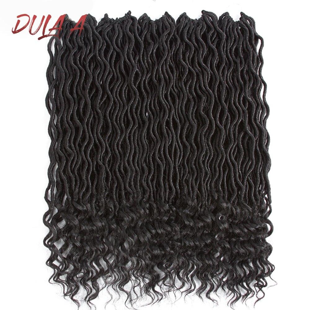 Pelo sintético Dula A Bohemian Faux Locs Crochet extensiones de pelo rizado Crochet trenzado pelo de diosa Ombre