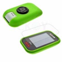 Cyclisme en plein air en caoutchouc de Silicone protéger étui vert + LCD Film protecteur pour Polar V650 GPS accessoires
