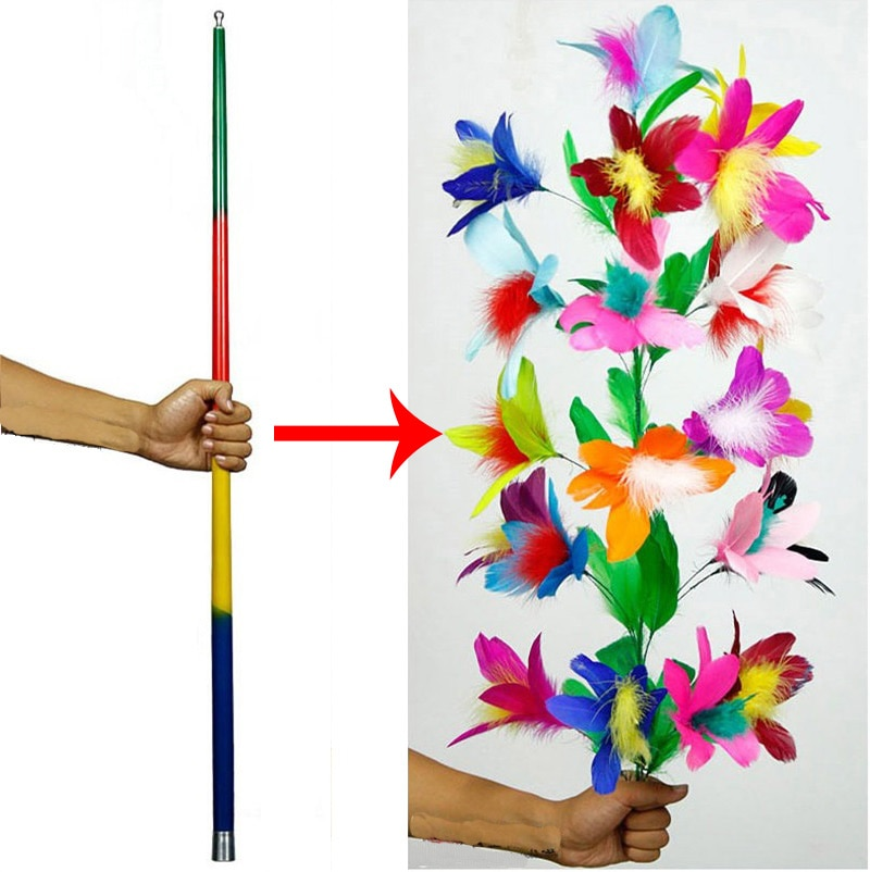 Vanishing Disappearing Cane To Flower Magic Tricks for Professional Magicians Close Up Stage Magic Tricks Magic Props Funny Toys недорого