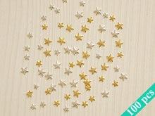 Hot Sale sea Set of 100pcs of  starfish nail charms in 2 colors and 2 sizes/ 3D nail charms/ 3D nail art/ 3D nail decoration
