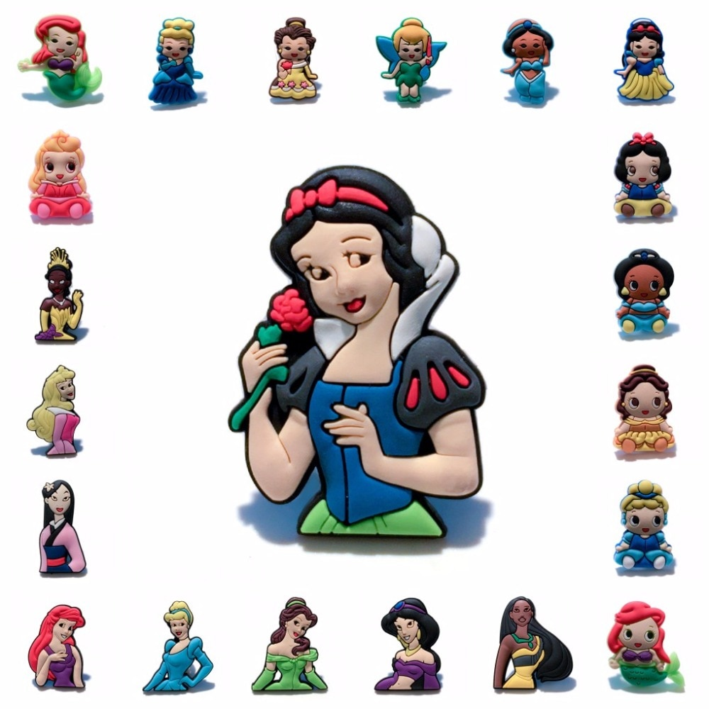 1 шт., Милая брошь принцессы из ПВХ в стиле аниме, значок с мультяшной иконой, значки на пуговицах для женщин и детей, Подарочный рюкзак, украш...