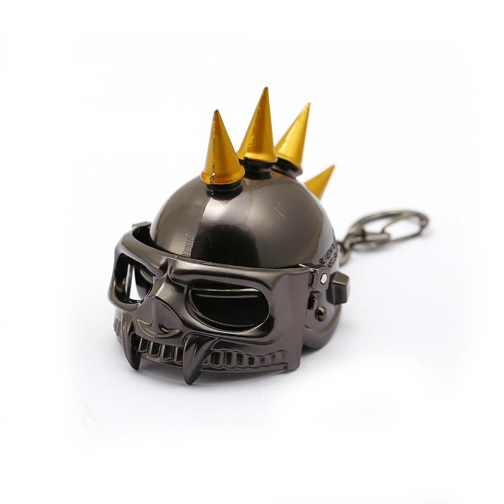 HSIC Game Jewelry Battleground PUBG Helmet Keychains 3D Open Keyrings Holder Level 3 Helmet Men Valentine Chaveiro pubg level 3 helmet playerunknown s battlegrounds helmet mask for nerf toy gun game rival ball outdoor cs