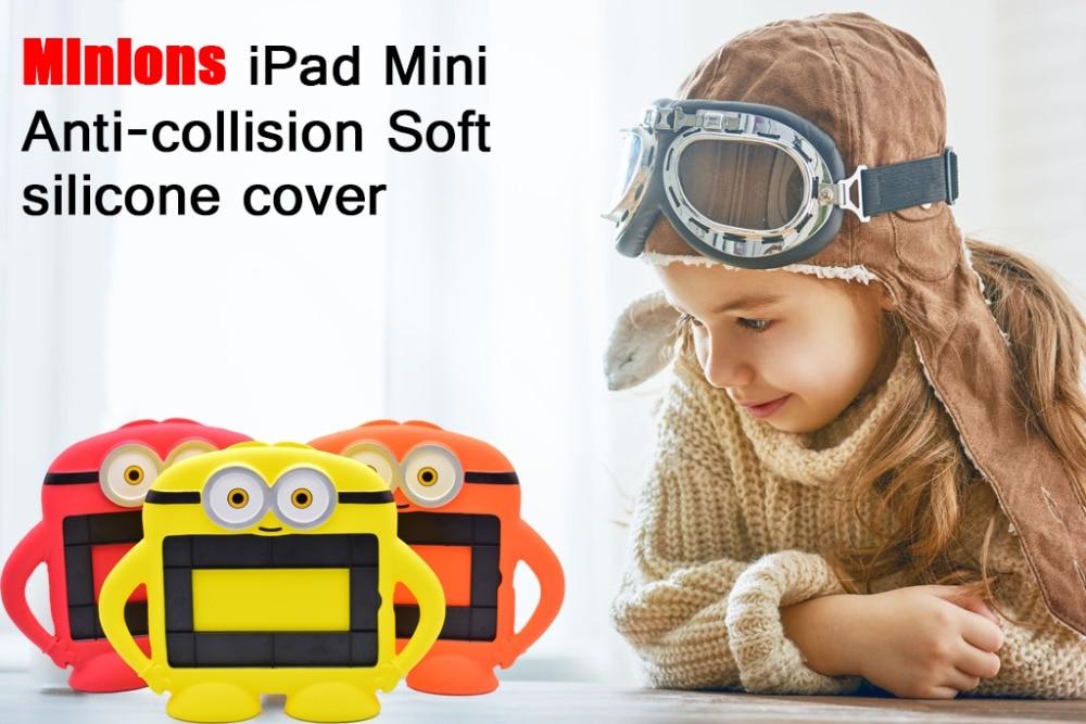 "Minion Soft Silicon 3D Kids Protective Cute Shockproof Cartoon EVA Minion Case for ipad Mini 1 / 2 /3 / 4 Universal 7.9""inch"
