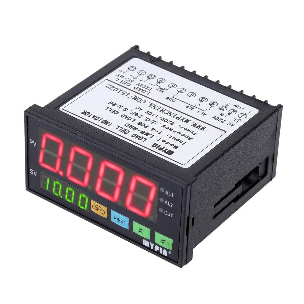 LM8-RRD controlador de pesaje Digital indicador LED controlador de peso indicador 1-4 celdas de carga señales entrada 2 relé salida 4