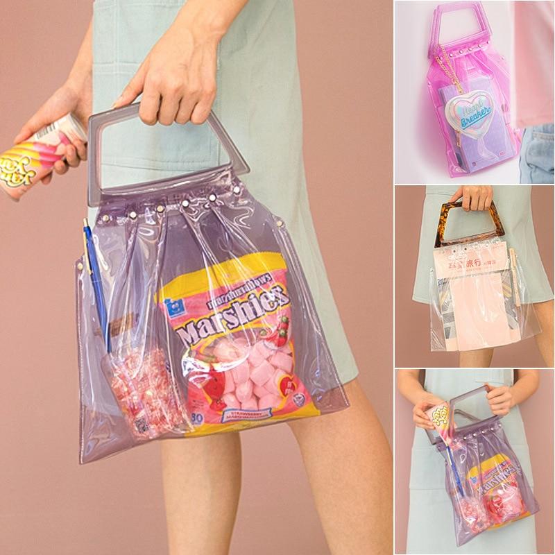 Bentoy, bolsos de verano para mujer, bolso de mano de día transparente de diseñador, bolso de mano de PVC, bolso de mano informal para mujer, bolso de mujer
