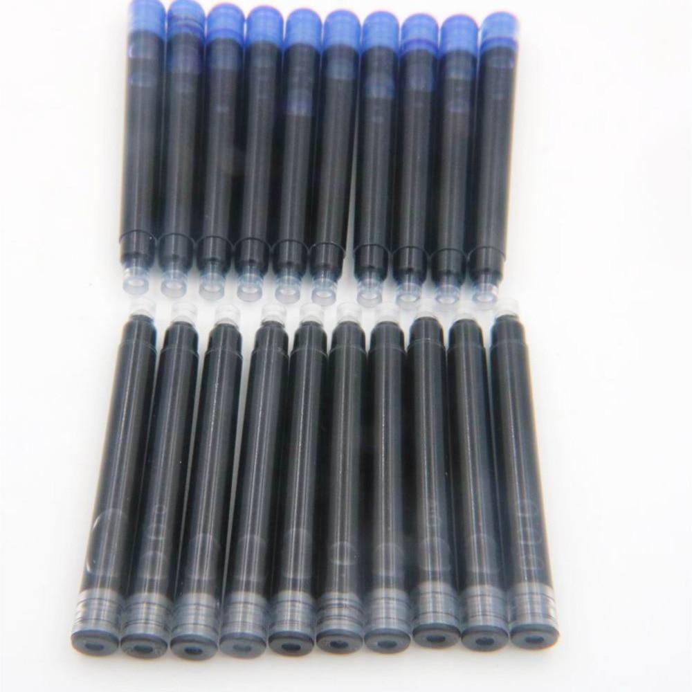 25 uds Jinhao bolígrafo Universal Negro tinta cartuchos recarga para pluma