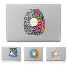 اليسار واليمين الدماغ دريكاتشر ملصق حائط من الفينيل محمول ملصق ل كمبيوتر صغير هوائي ماك بوك برو 13 بوصة الكرتون غلاف لاصق للكمبيوتر المحمول قذيفة ل ماك كتاب
