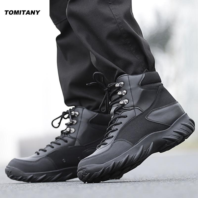 Hiking Trekking Shoes Men Waterproof Leather Shoes Climbing Fishing Outdoor Shoes Mens Mountain Boots Male
