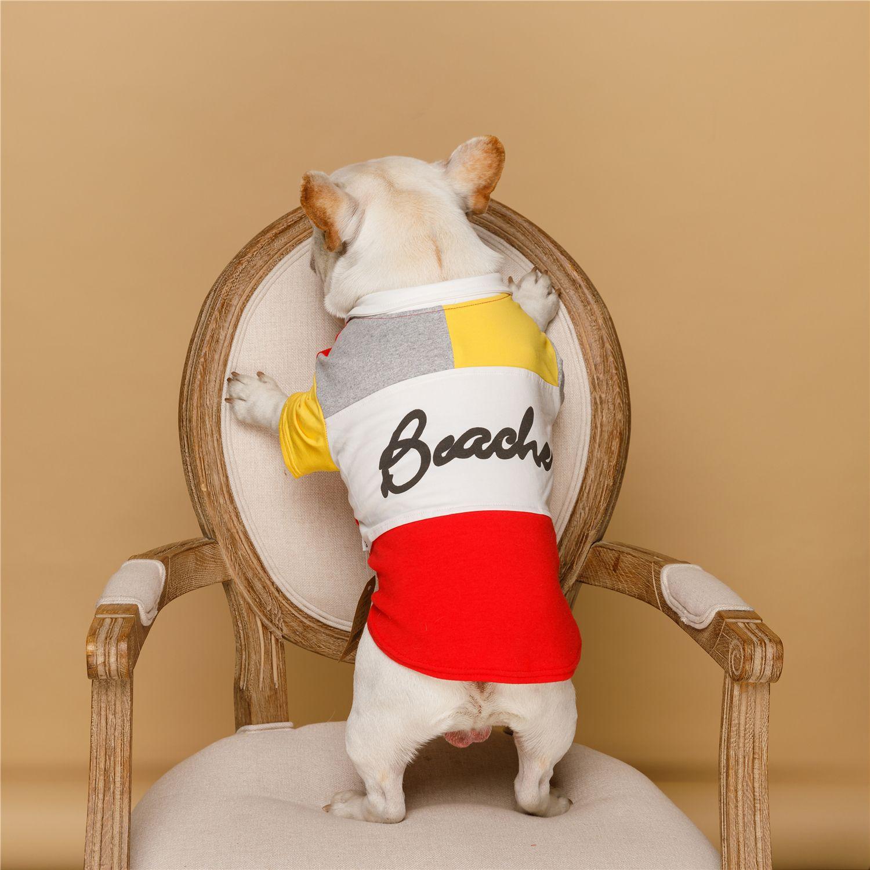 Kawaii gato perro mascota ropa Chihuahua yorkkie Bulldog Schnauzer Corky Bomei moda Camiseta Polo atractivo