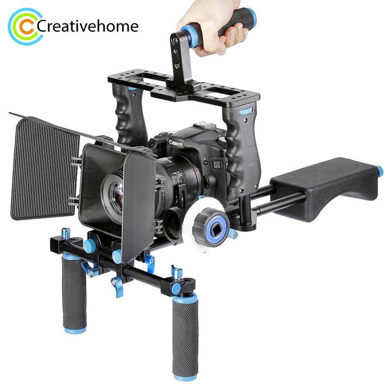 YELANGU-حامل كاميرا فيديو احترافي DSLR ، حامل كتف ، حامل قفص ، صندوق غير لامع ، تركيز تتبع لكاميرا Canon ، Nikon ، Sony