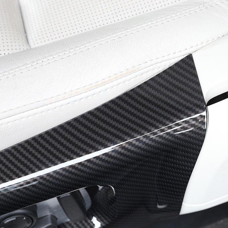 Carbon Fiber For Land rover Discovery 5 L462 LR5 2017-18 ABS Car Seat Side Cover Frame Trim For Range Rover Velar RR Sport 2018 enlarge