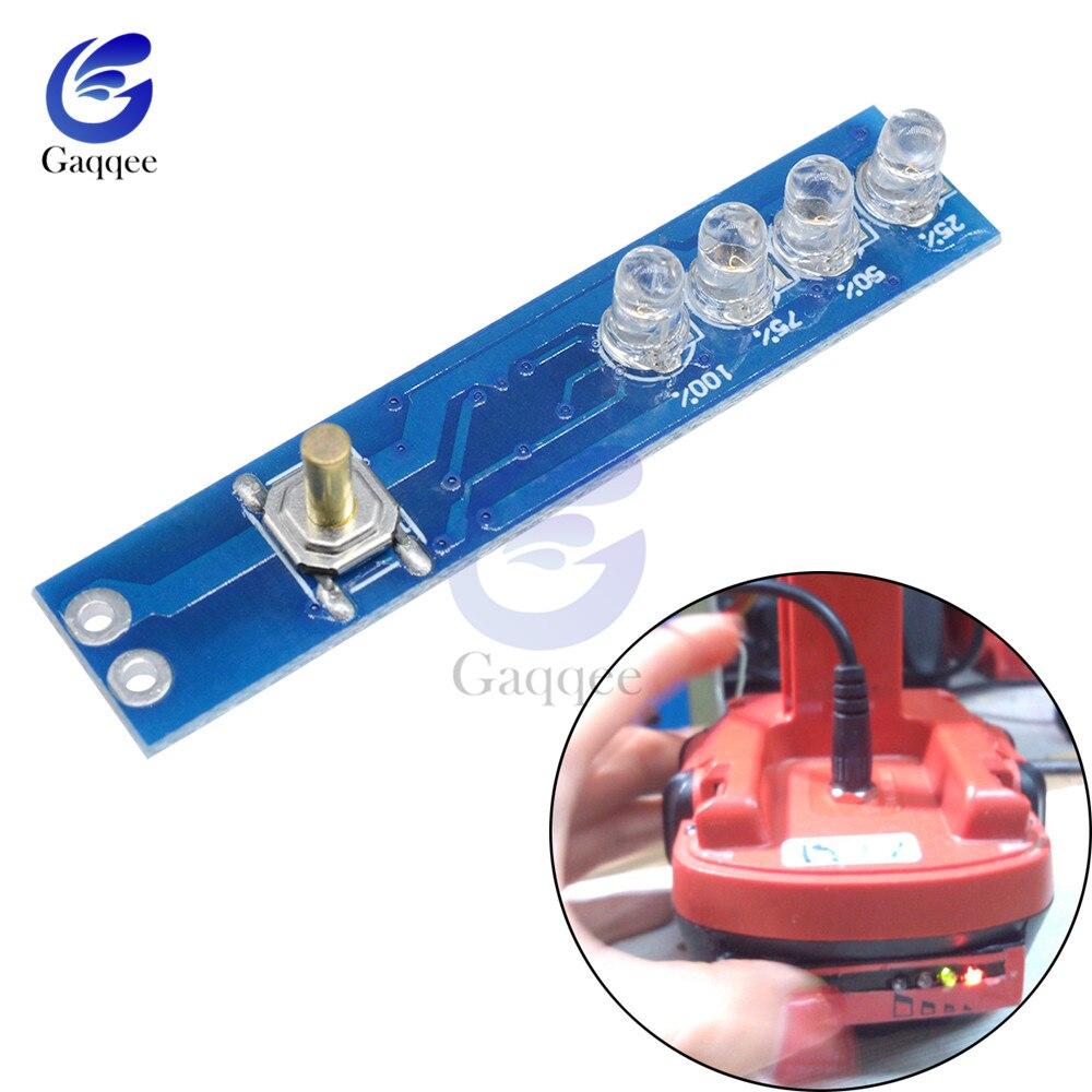 1 s indicador de capacidade da bateria de lítio testador led display board indicador de nível de potência para 1pcs 18650 li-ion lipo bateria de lítio
