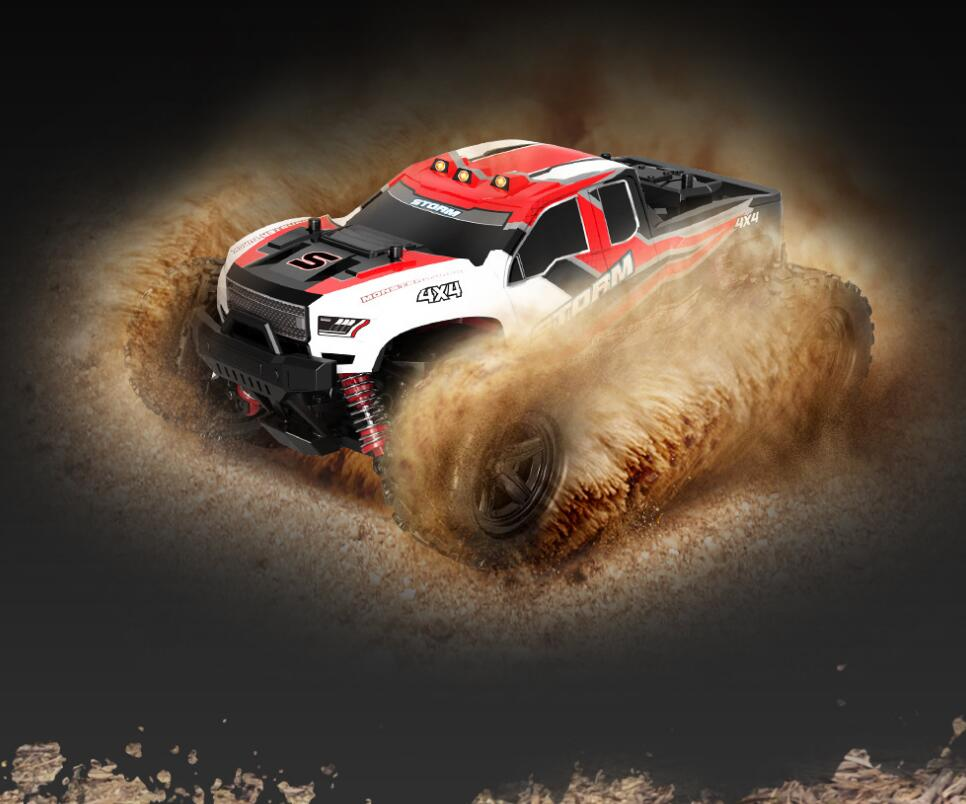 36KM/H high Speed Electric OFF-Road Vehicle Model 2.4G 1:18 Full Scale 4WD Remote Control Truck with explosion-proof PVC Shell enlarge
