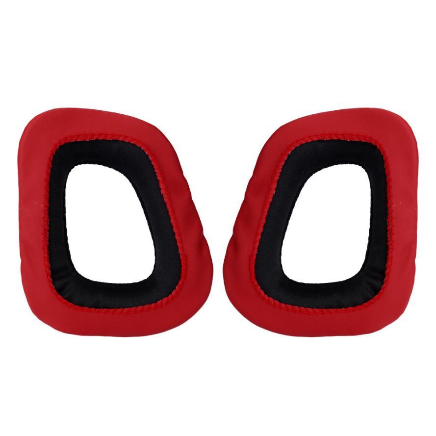 Almohadillas de auriculares HLFor Logitech para Gaming G230 G430 G930 G35 F450 negro y rojo oct16