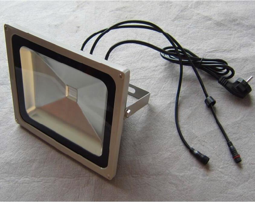 60 W RGB DMX Luz de inundación, AC90-260V de entrada; puede ser controlado por el controlador dmx directamente