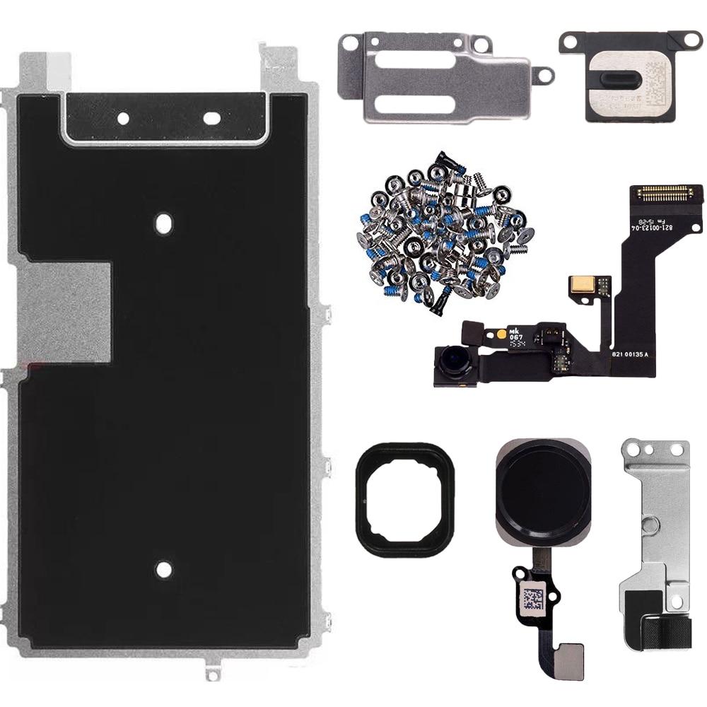 Piezas de pantalla LCD frontal altavoz de la Cámara botón de inicio cable flexible soporte de placa de metal para iPhone 6S 6s Plus