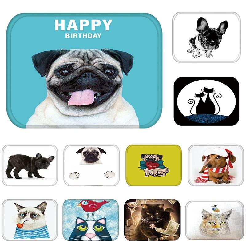 Tapetes para puerta de entrada, perro divertido, Bulldog Francés, alfombra para sala de estar, cocina, impermeable, antideslizante, alfombra de baño 48228-2