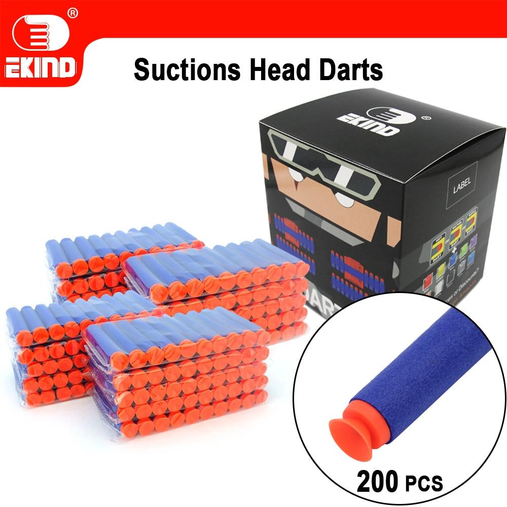 200pcs Suction Darts Of EKIND 7.2cm Refill for Nerf Series Blasters Kid Toy Gun