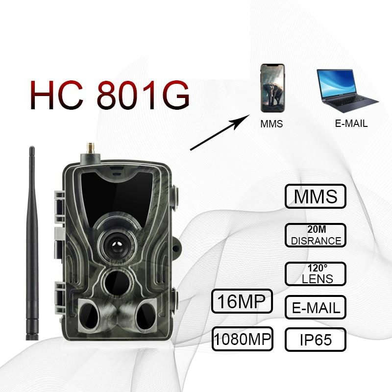 Hc801a HC801M HC-801G 4G ciervo cámara de caza 16MP cámara de rastro VERSIÓN NOCTURNA MMS foto trampas hunter gsm Wild Cámara Chasse