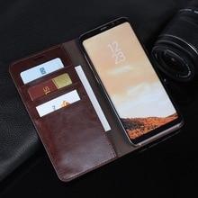 Sac de téléphone pour Galaxy S8 étuis de luxe en cuir véritable portefeuille étui à rabat pour Samsung Galaxy S8 Plus