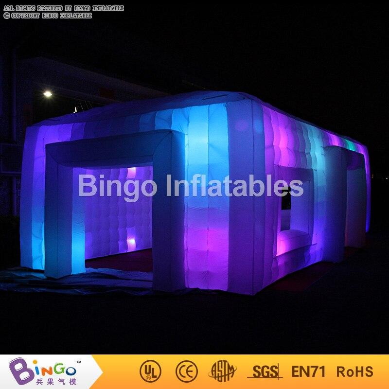 Tipo Tenda gigante Inflável Barraca Do Partido 9.5*5*3.7 m Inflável Cube Bar Evento Tenda Crianças Brincam Tendas casa para venda com Iluminação