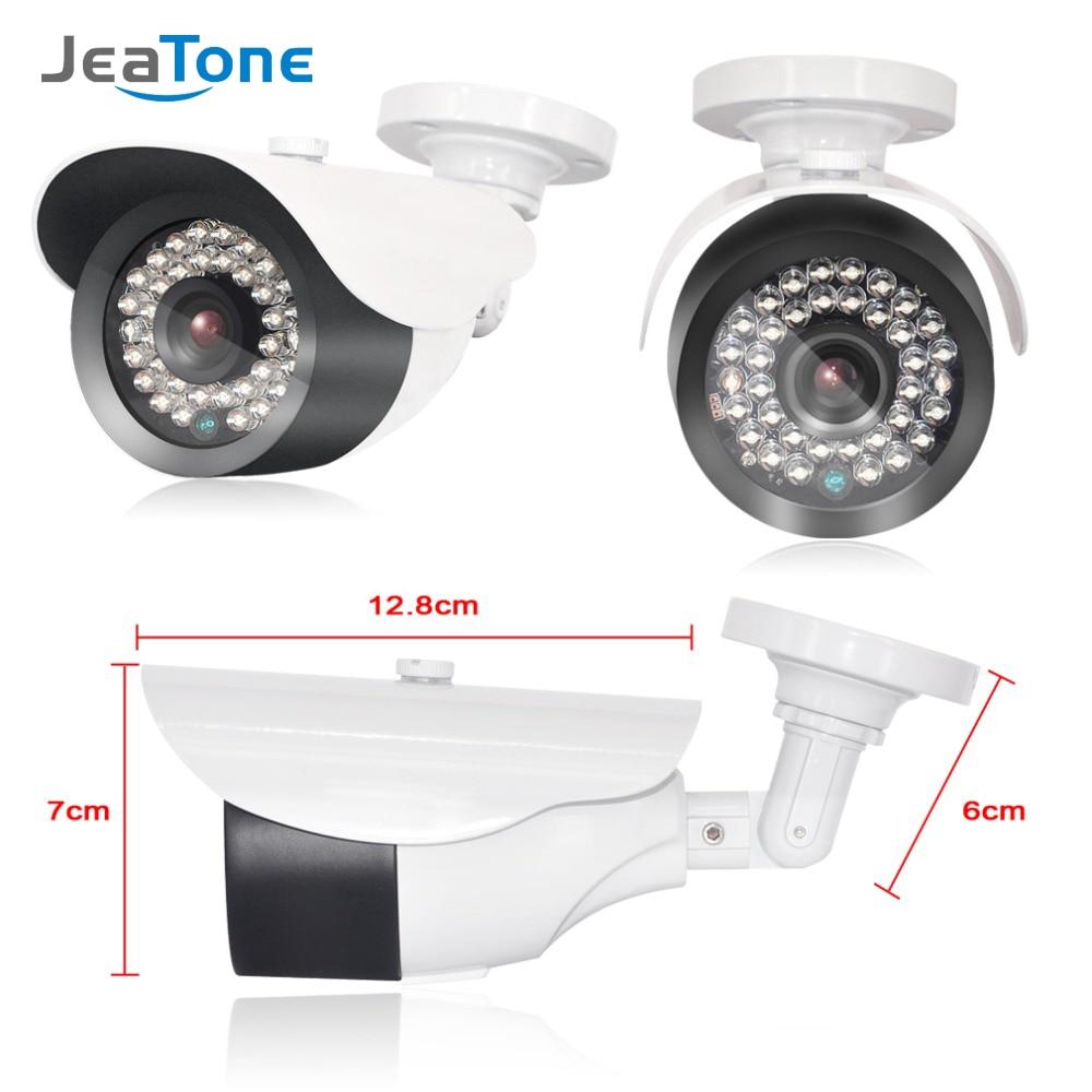 Cámara de vigilancia JeaTone 1080P IP con lente de 3,6mm a prueba de agua 2,4 megapíxeles