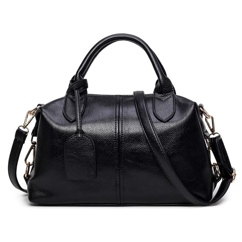 New Solid Soft PU Leather Women Top-Handle Bag Large Capacity Women Pillow Handbag Tote Shoulder Bag