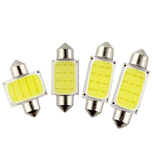 Festón LED para coche de 31mm/36mm/39mm/42mm 12V, bombilla para estacionamiento CANBUS C5W COB LED tamaño Interior blanco SMD, Bombilla de luces de lectura