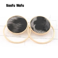 neefu wofu camouflage leather earring round drop big earrings for woman large long brinco ear oorbellen christmas