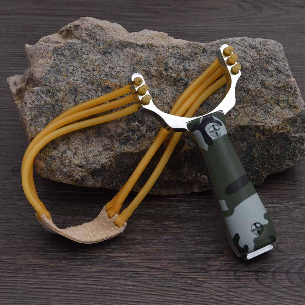 Мощный Рогатка VILEAD, Рогатка из алюминиевого сплава, арбалет, охотничий слинг, камуфляжный бантик, походные комплекты