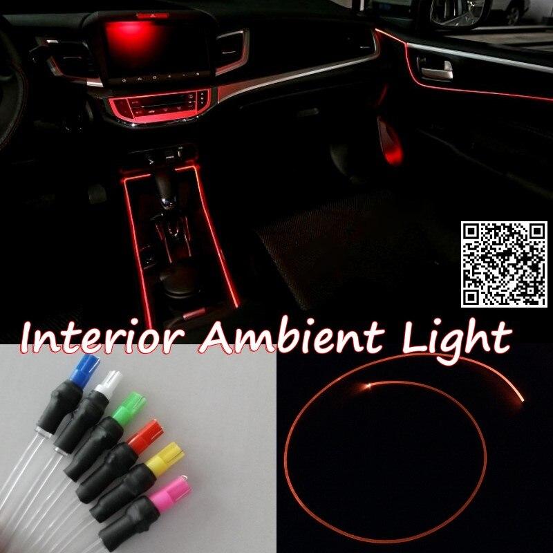 Para HONDA ODYSSEY 2003-2013 luz de ambiente Interior del coche iluminación del Panel para el Interior del coche tira fresca banda de fibra óptica