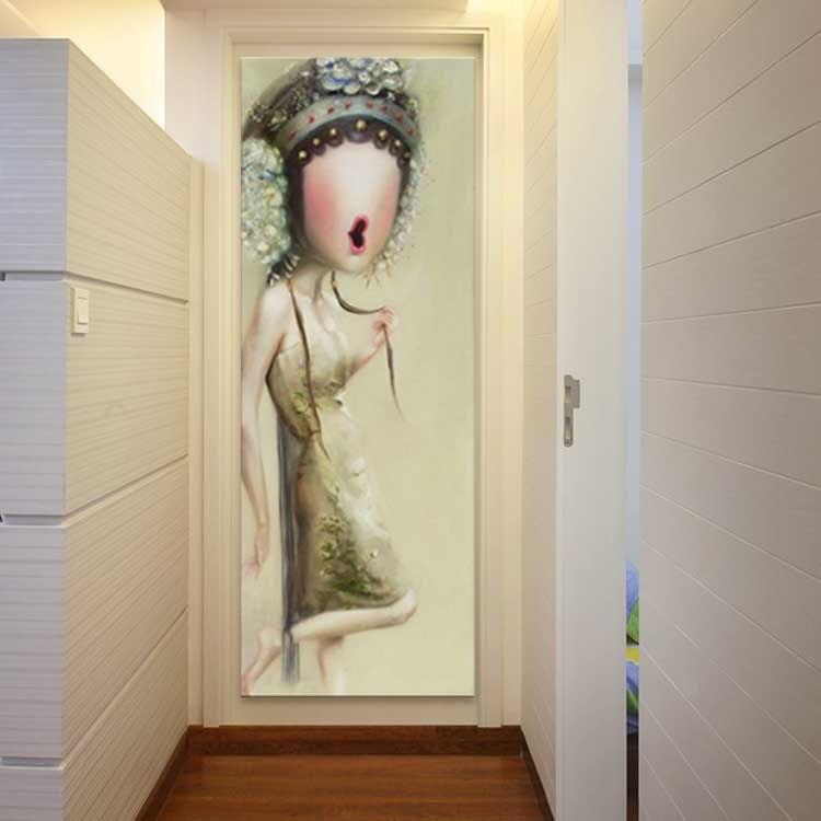 Pintura a Óleo da Lona Ópera de Pequim Pintada à Mão Arte da Parede Decoração da Sua Chines Cantor Sexy Lady Imagem Arte Casa Cabelo