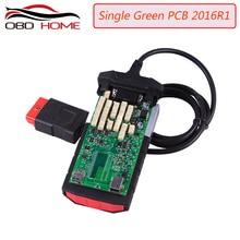 Outil de Diagnostic relais vert carte unique PCB   Nouveau vci avec bluetooth 2015 r3/2016 R1 version sur cd avec boîte carton PRO